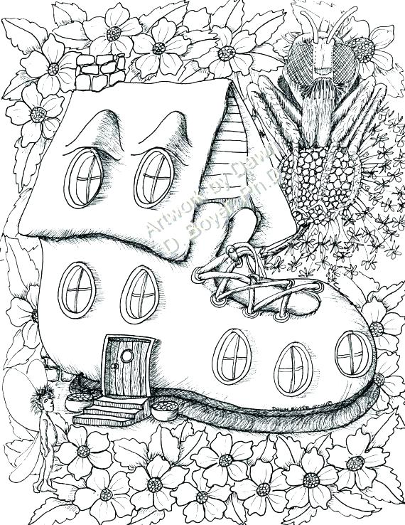 570x738 Coloring Pages Houses
