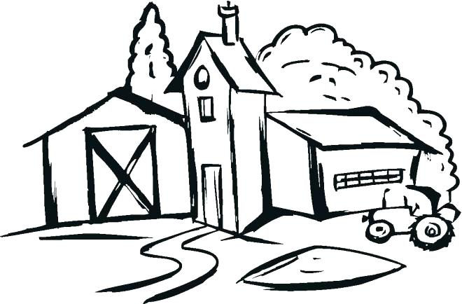 660x434 Coloring Pages Houses Coloring Pages Farm For Farm House Coloring