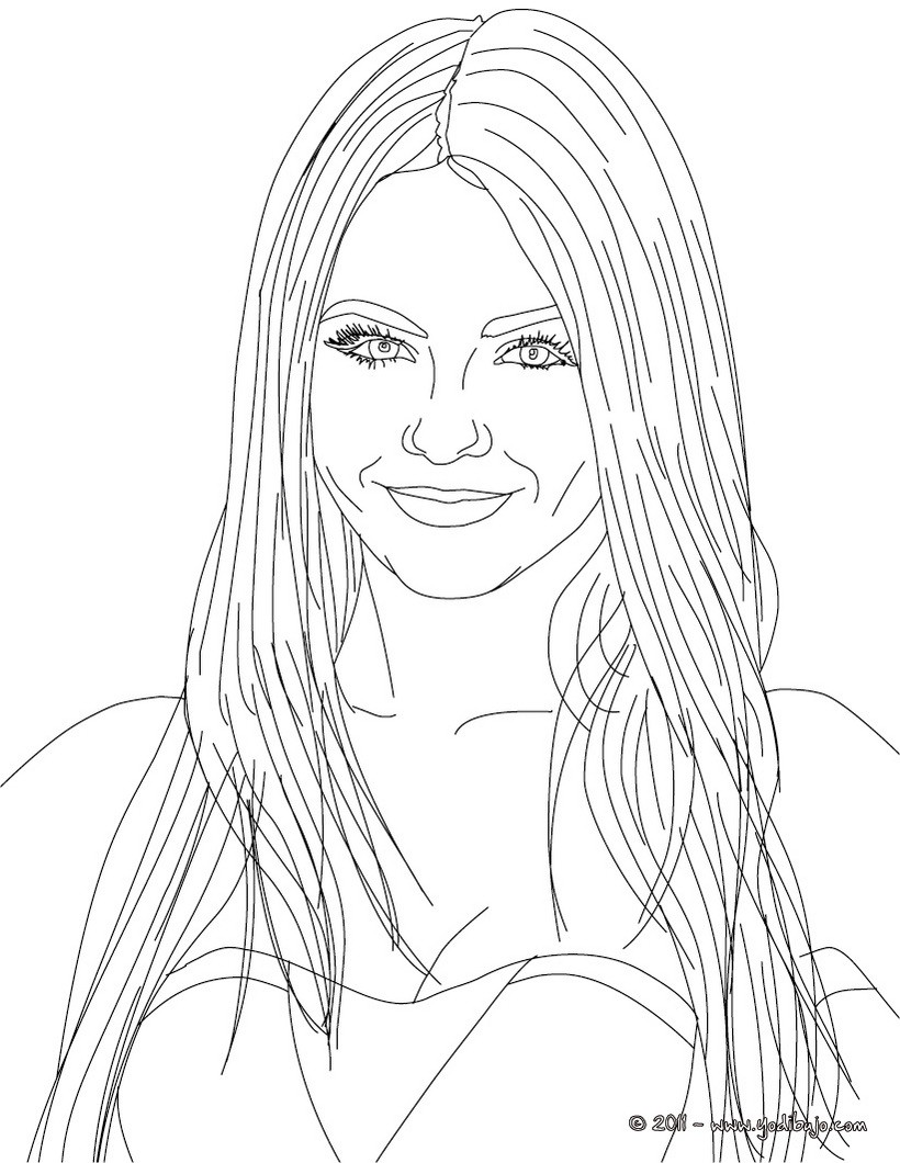 Victorious Justice Coloring Pages
