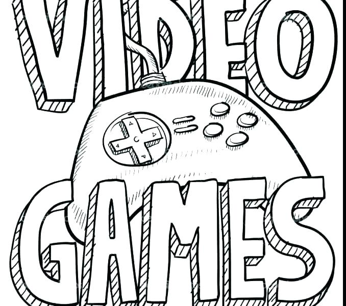 Video Game Coloring Pages At Getdrawings Free Download