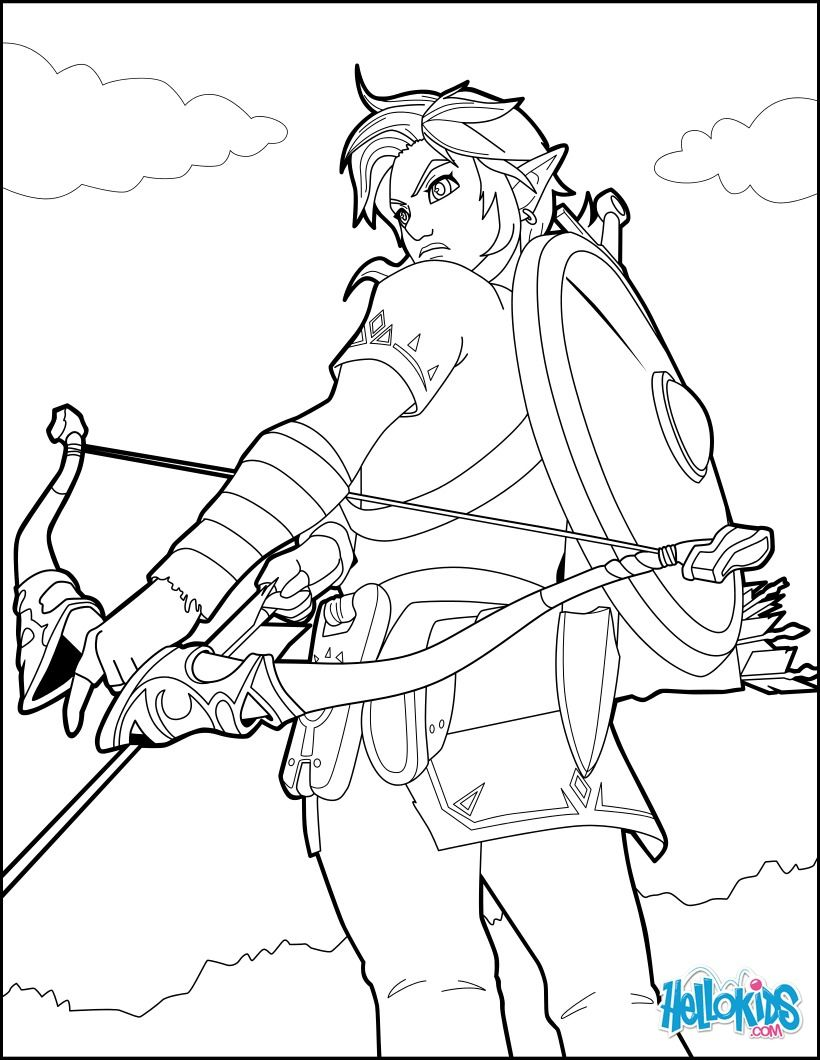 820x1060 Link Coloring Page From The Famous Zelda Video Game More Video