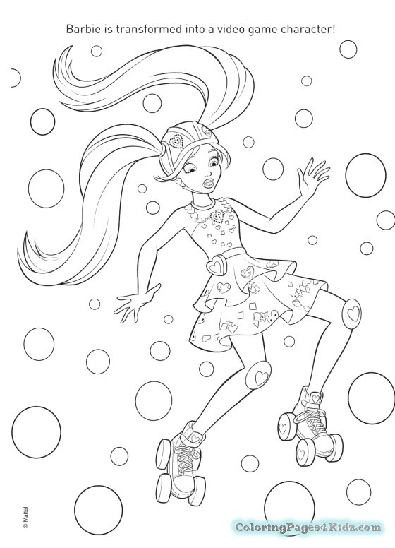 560x776 Printable Barbie Video Game Hero Coloring Pages Coloring Pages