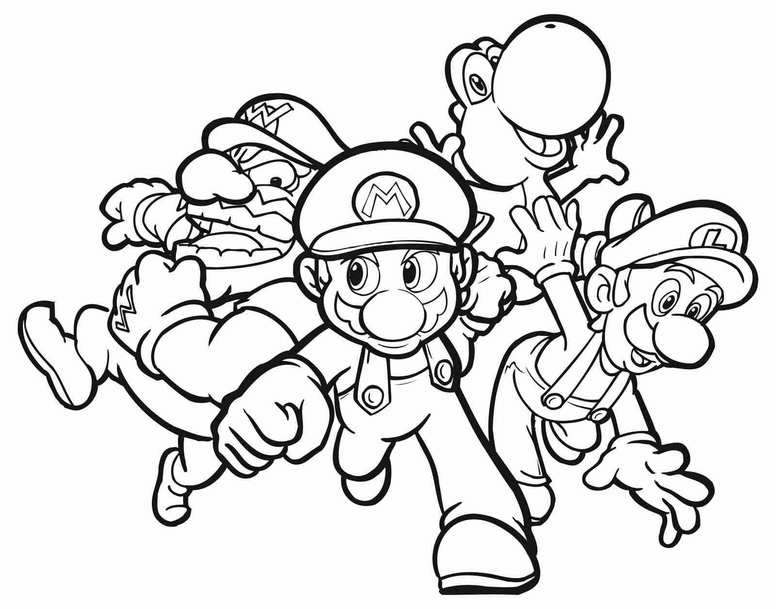 1600x1255 Video Game Coloring Pages Mario Bros Vitlt Com And Arresting