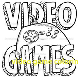 268x268 Video Game Coloring Pages With Games Coloring Pages Give The Best