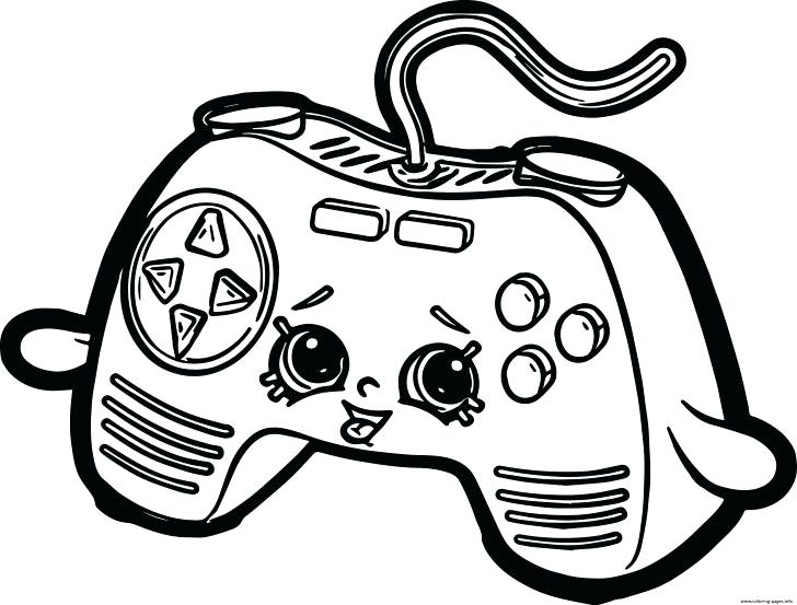 728x553 Video Game Coloring Pages For Adults