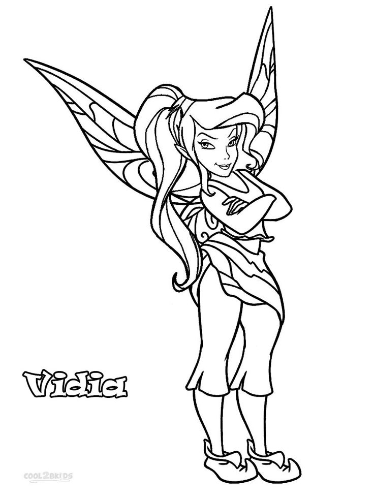 Vidia Fairy Coloring Pages