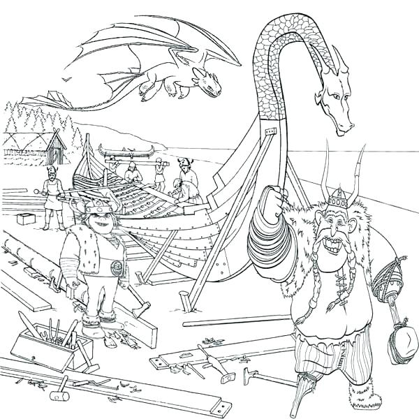 Viking Ship Coloring Page At Getdrawings Com Free For Personal Use