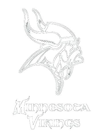 360x480 Minnesota Vikings Coloring Pages Helmet And Football Coloring Page