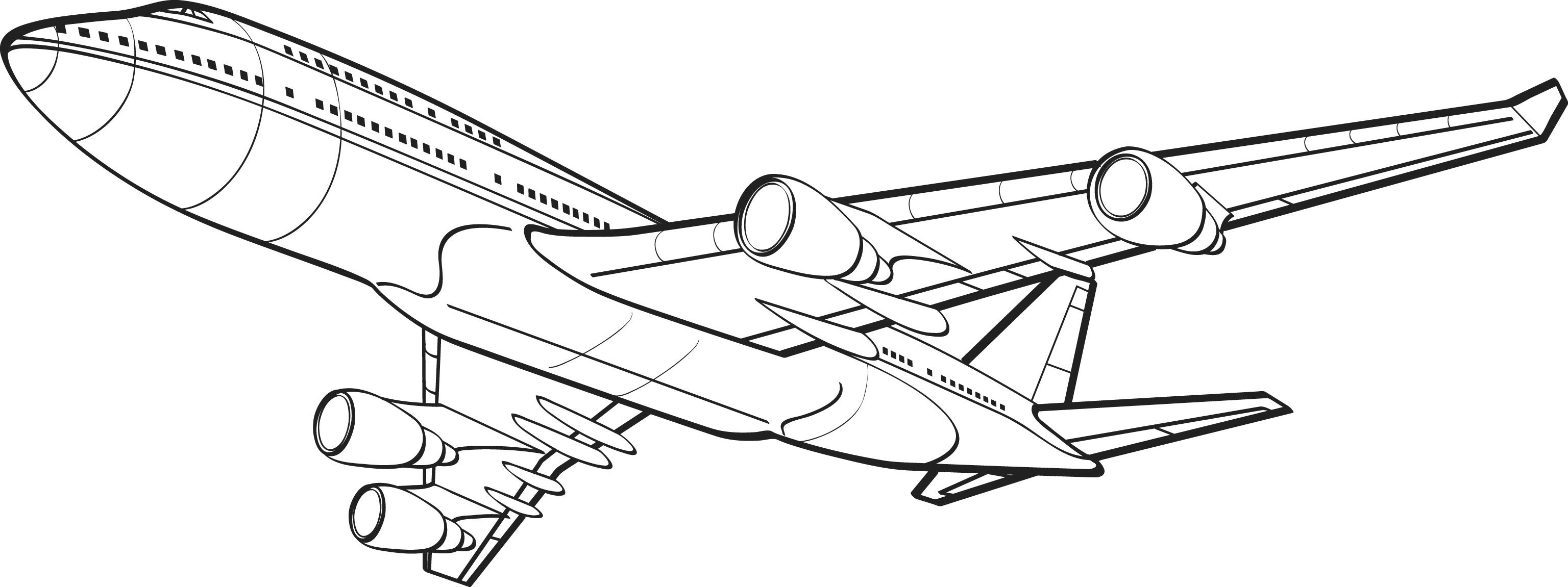 3072x1151 Competitive Vintage Airplane Coloring Pages Printable