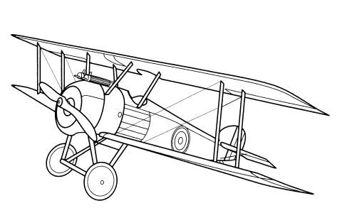 487x300 Free Coloring Pages Airplane Coloring Sheets Airplanes