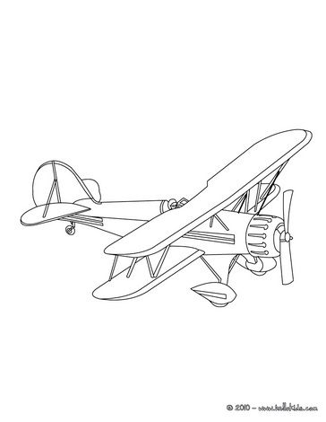 364x470 Vintage Airplane Coloring Pg Vbssunday School Ideas