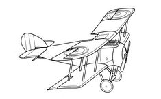 235x145 Vintage Airplane Coloring Pages