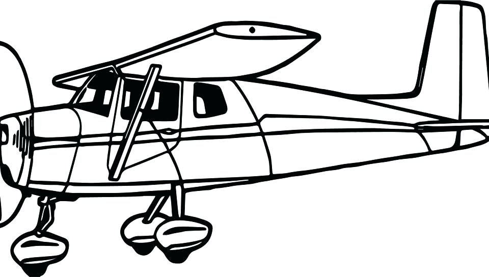 960x544 Coloring Pages Airplanes Airplane Coloring Page Free Images