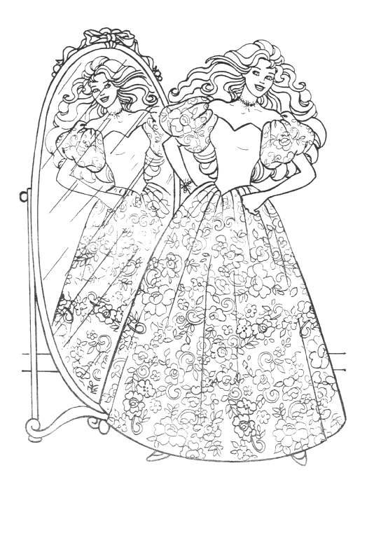 524x768 Coloring Page Barbie
