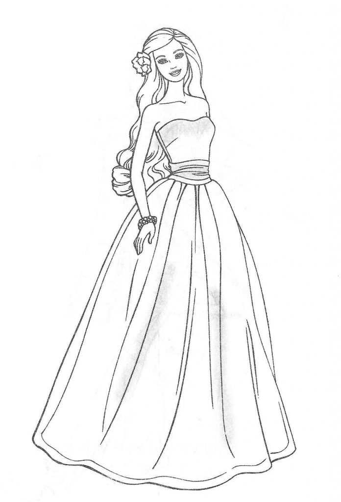 696x1024 Coloring Pages And Coloring Books Barbie Coloring Pages