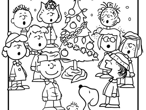 564x425 Free Vintage Christmas Coloring Pages A Charlie Brown Christmas