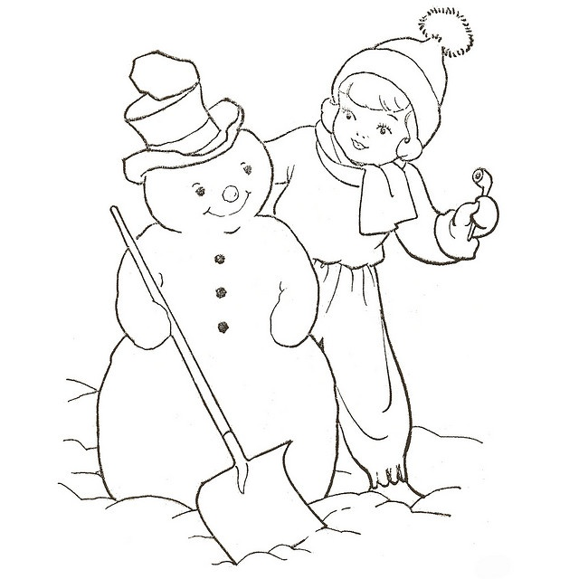 640x640 Old Fashioned Coloring Pages For Christmas