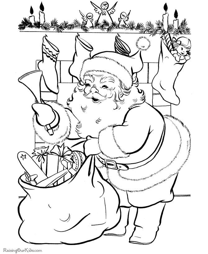 670x820 Vintage Christmas Coloring Pages