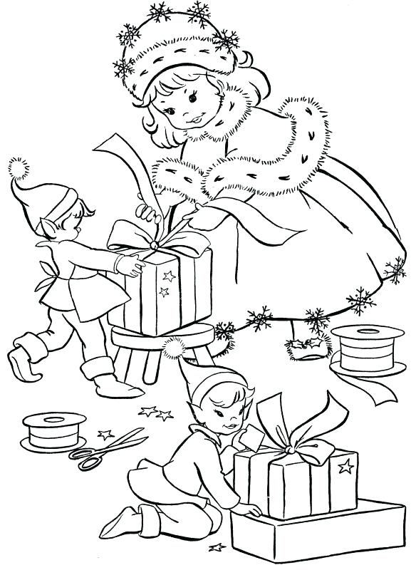 584x800 Vintage Christmas Coloring Pages Affordable Eve Drawings Drawing