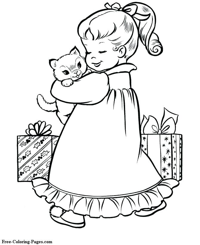 670x820 Vintage Christmas Coloring Pages Free Coloring Pages For Girls