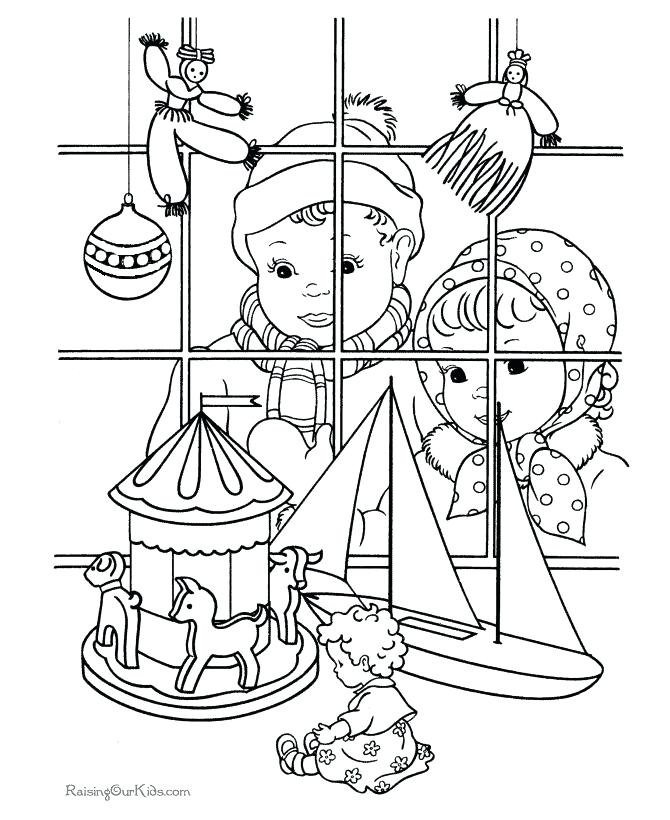 670x820 Vintage Christmas Coloring Pages Free Printable Coloring Pages