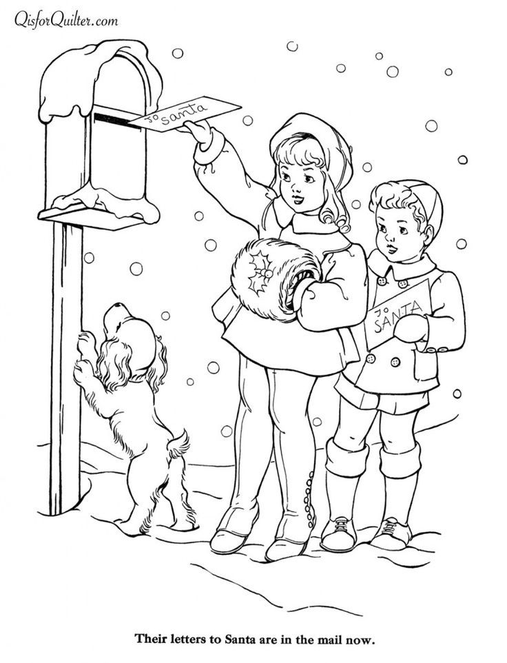 736x962 Bilderesultat For Free Vintage Christmas Design Coloring Pages