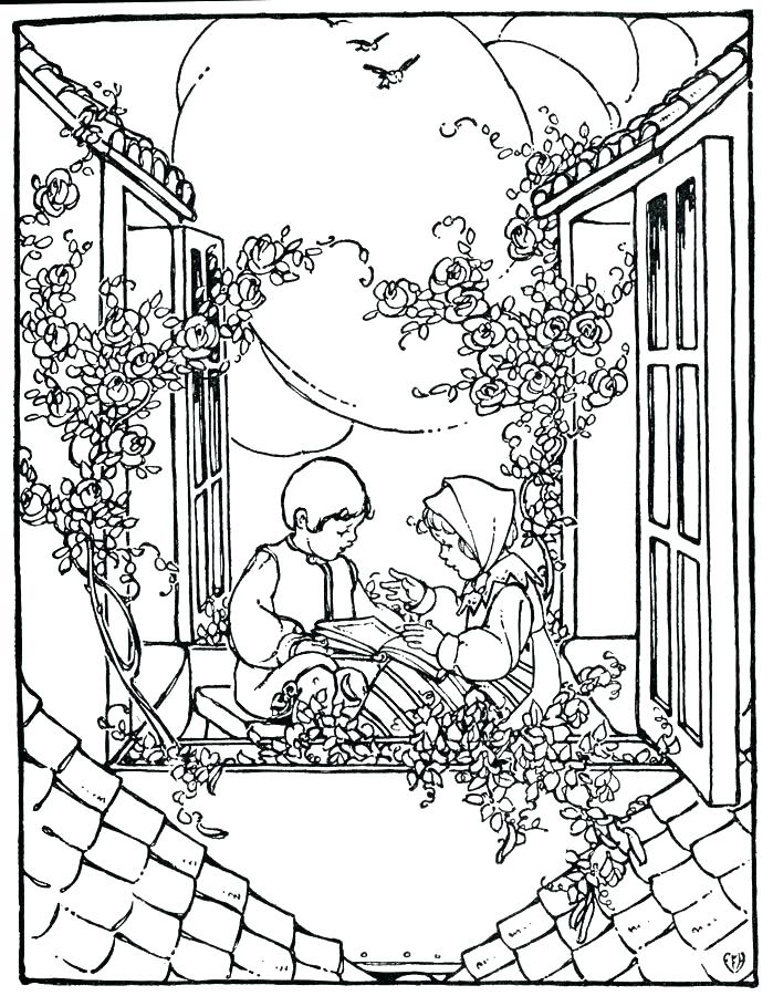 699x900 Vintage Christmas Coloring Pages X Vintage Christmas Coloring