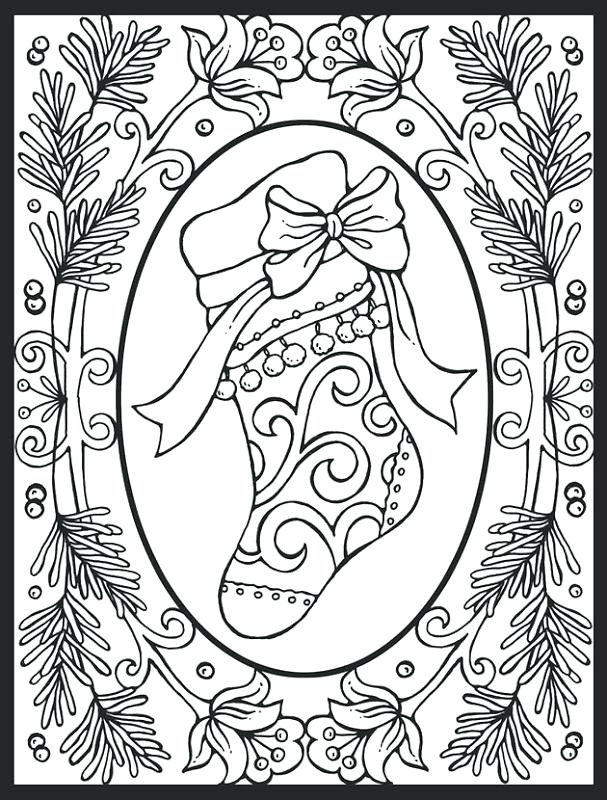 607x800 Coloring Pages And Coloring Books Adult Christmas Coloring Pages