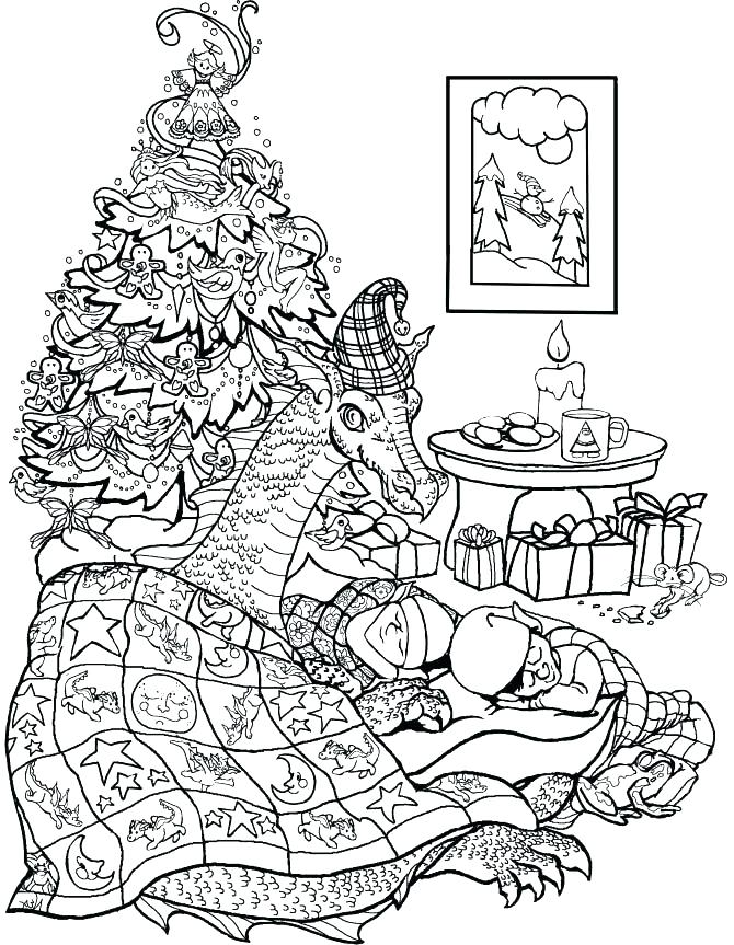 670x863 Vintage Christmas Coloring Pages Vintage Coloring Pages Tree Elves