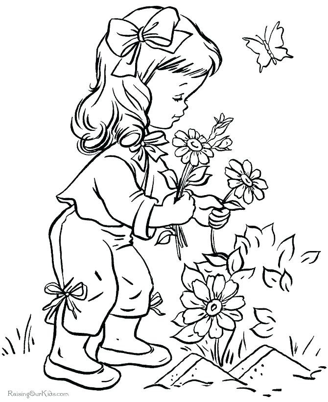 670x820 Creation Coloring Pages Flower Garden Coloring Pages Together