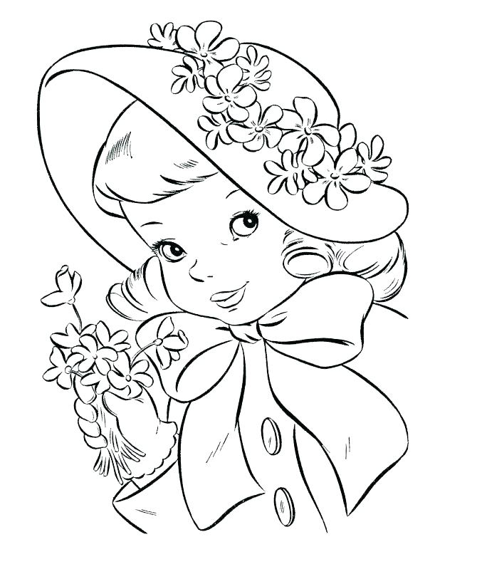 670x820 Free Vintage Coloring Pages Valentine Pag