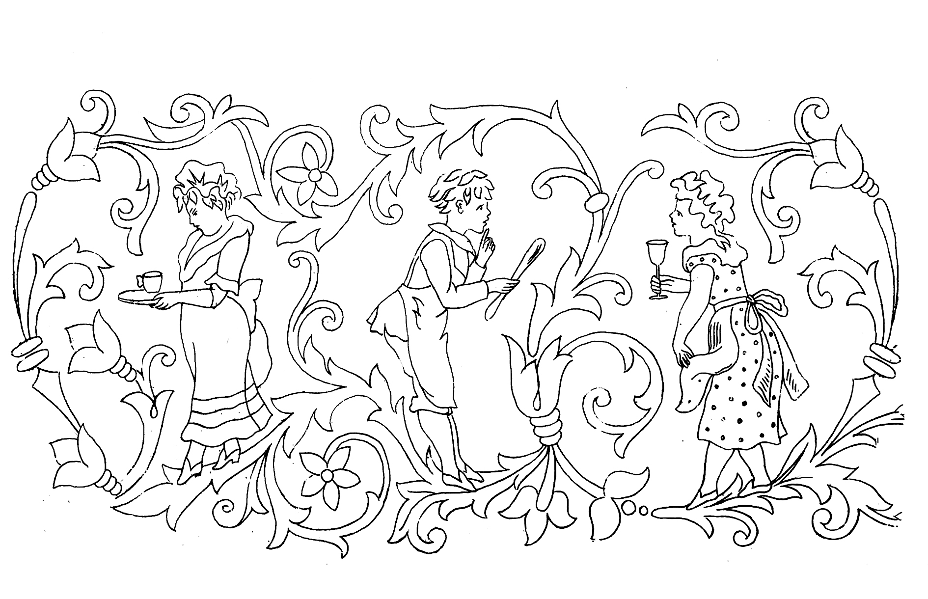 1890x1220 Victorian Coloring Pages Victorian Coloring Pages Era Vintage