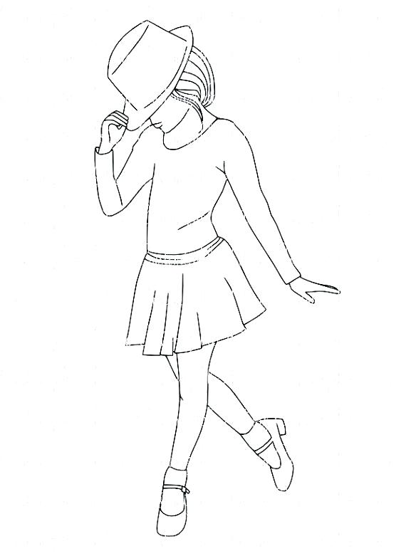 570x781 Vintage Clothing Coloring Pages Dancer Coloring Pages Drawn Dance