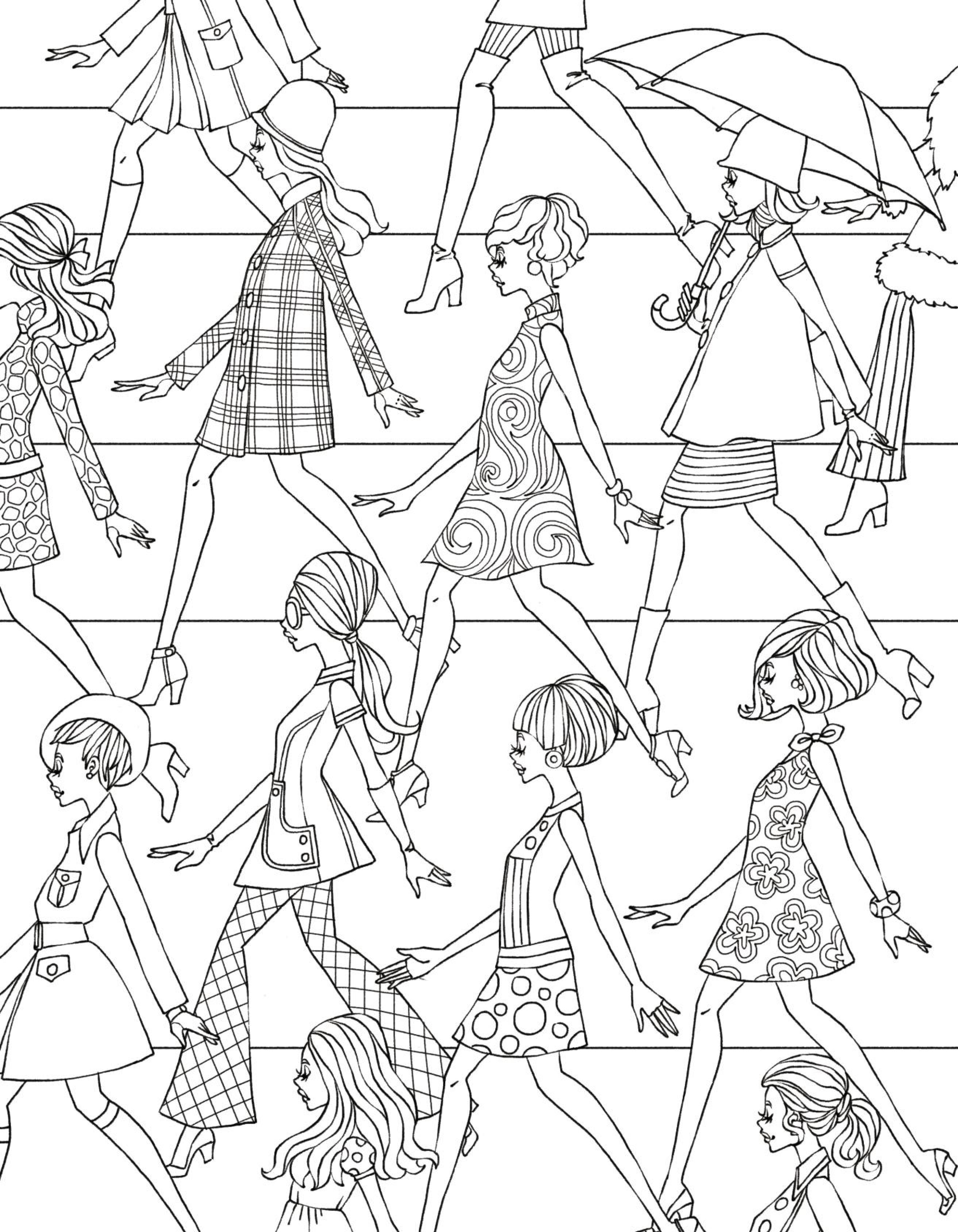 2625x3375 Vintage Fashion Coloring Pages Download Coloring For Kids