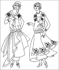 236x282 Vintage Fashion Style To Coloring Pages