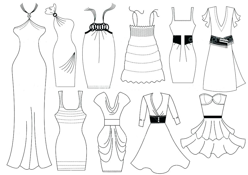 1023x723 Clothing Coloring Page Barbie Fashion Clothes Coloring Page Spa
