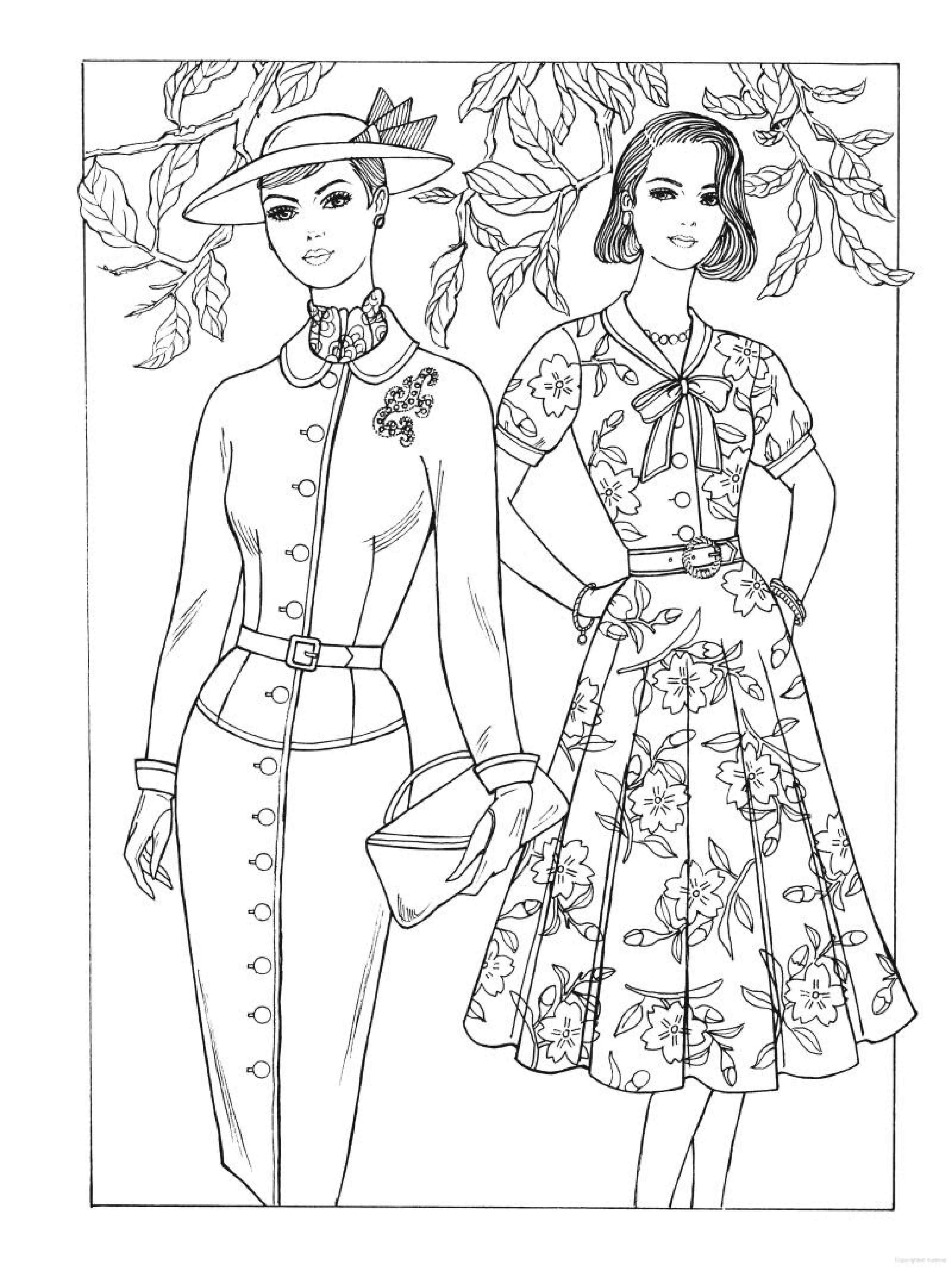 3333x4446 Creative Haven Fabulous Fashions Of The Coloring Book