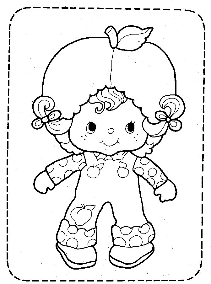 Vintage Strawberry Shortcake Coloring Pages