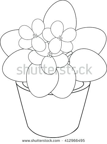 349x470 Coloring Page Of Flower Flower Pot Coloring Page Flower Coloring