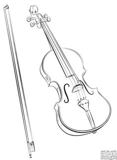 The Best Free Violin Coloring Page Images Download From 45 Free