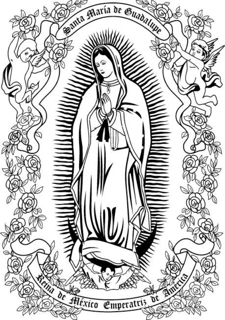 Virgen De Guadalupe Coloring Pages At Getdrawings Free Download