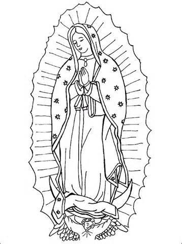 358x480 Virgen De Los Angeles Colouring Pages Ccd Ideas