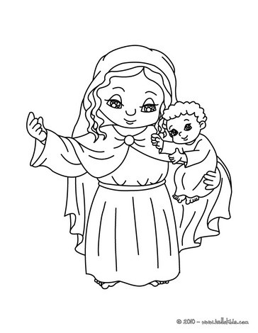 364x470 Jesus And Virgin Mary Coloring Pages