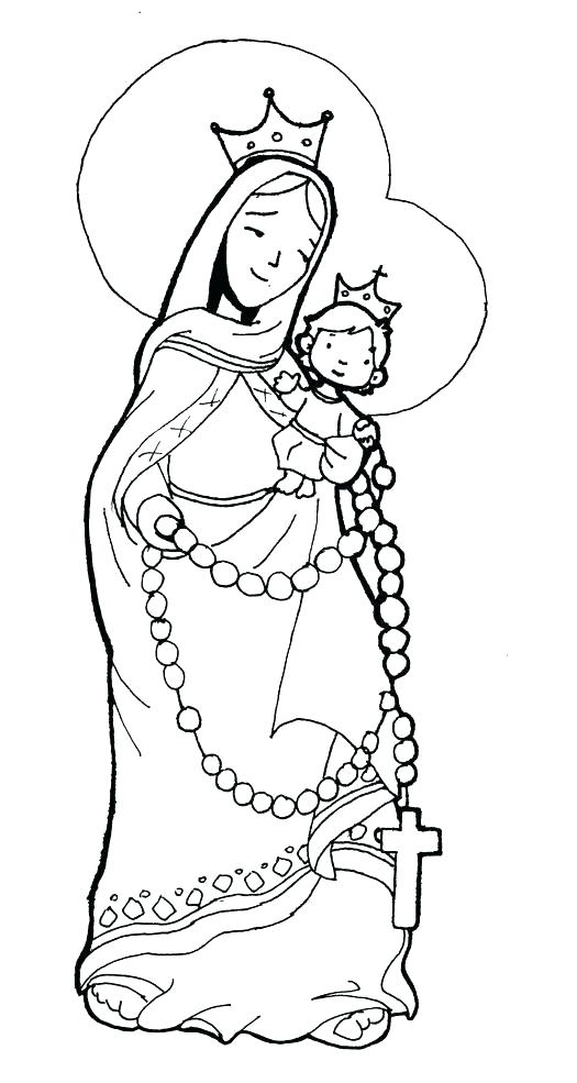 525x985 Mary Coloring Page Of Coloring Page Virgin Mary Coloring Pages