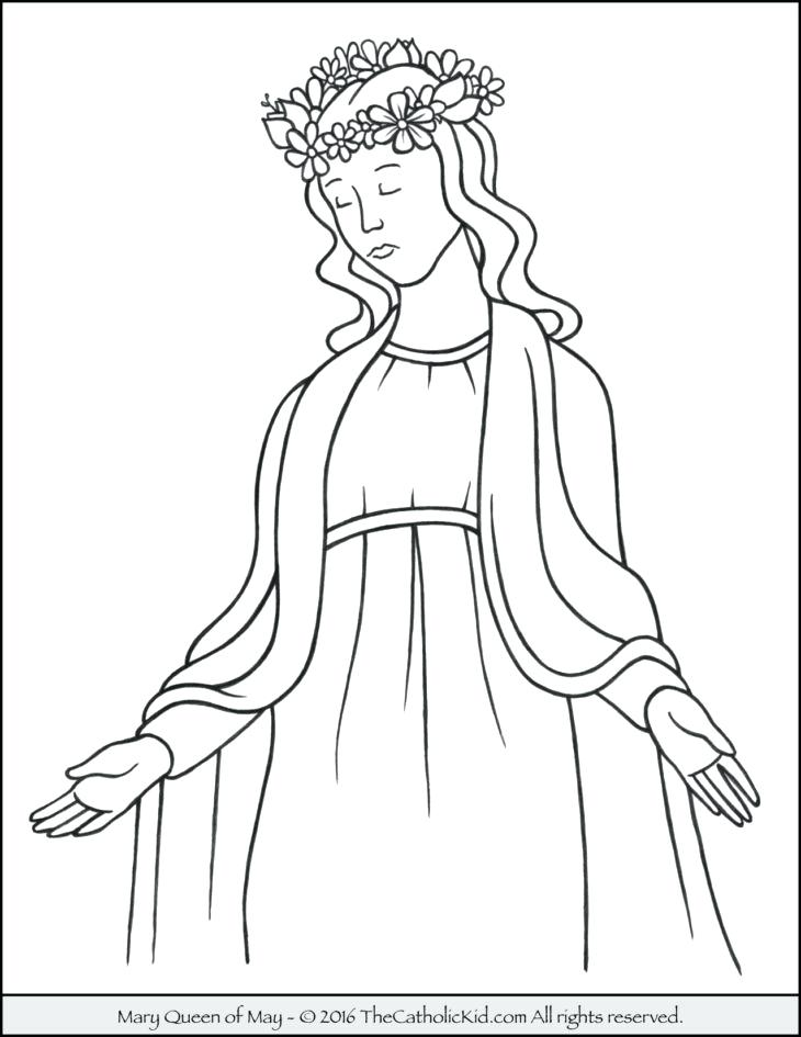 730x945 Mary Coloring Page Queen Of May Crowning Coloring Page Mother Mary