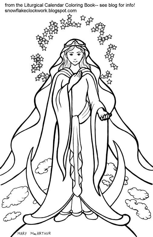 506x782 Mary Coloring Pages Catholic