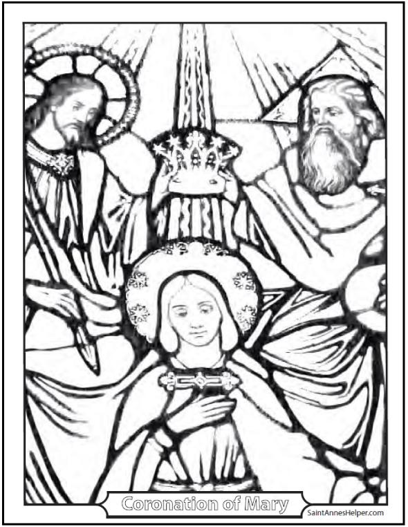 590x762 Saint Mary Coloring The Coronation Of Mary