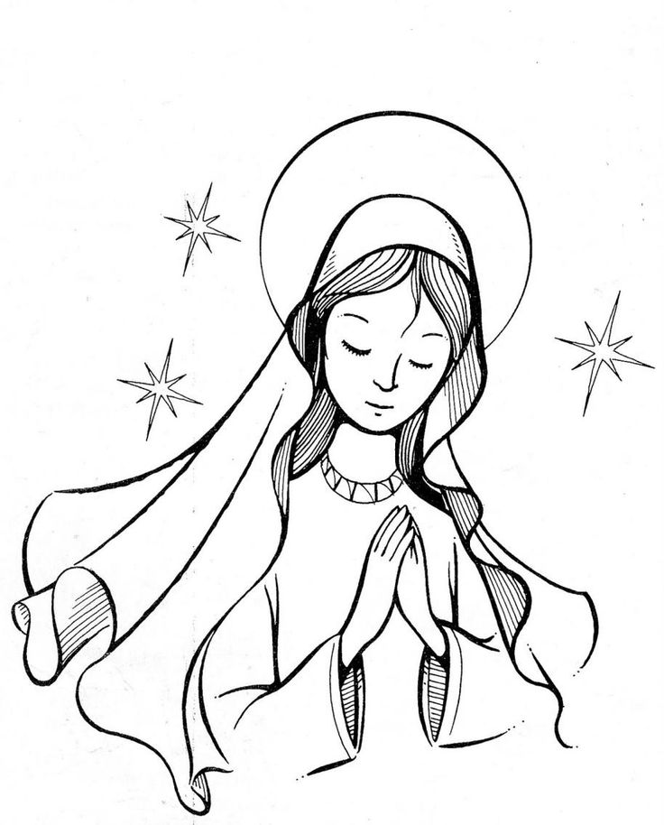 736x914 Best Photos Of Holy Mary Coloring Pages