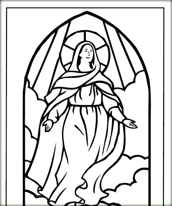 573x686 Coloring Pages Blessed Mother Mary Blessed Virgin Mary Colouring