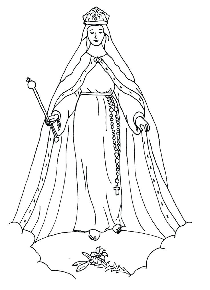 736x1018 Coloring Pages Blessed Mother Mary Coloring Pages View Larger